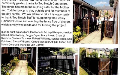 Top Notch Contractors Happy to Provide Free Fencing to the Penley Rainbow Centre