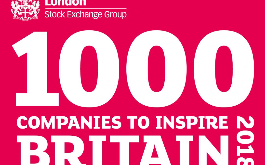 Top Notch Contractors Ltd identified in London Stock Exchange Group's '1000 Companies to Inspire Britain' report